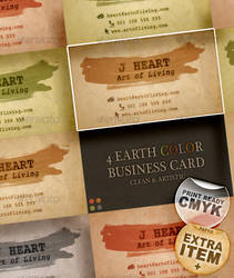 4 Earth Color Business Card
