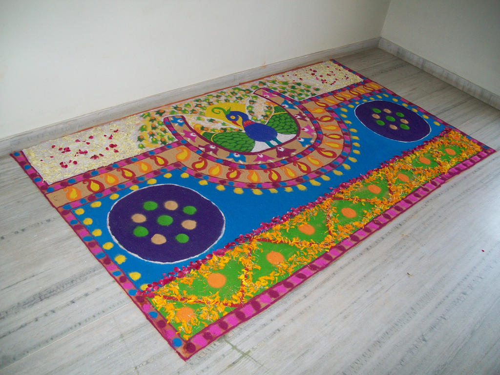 Rangoli Designs For Competition With Concepts Peacock rangoli design by