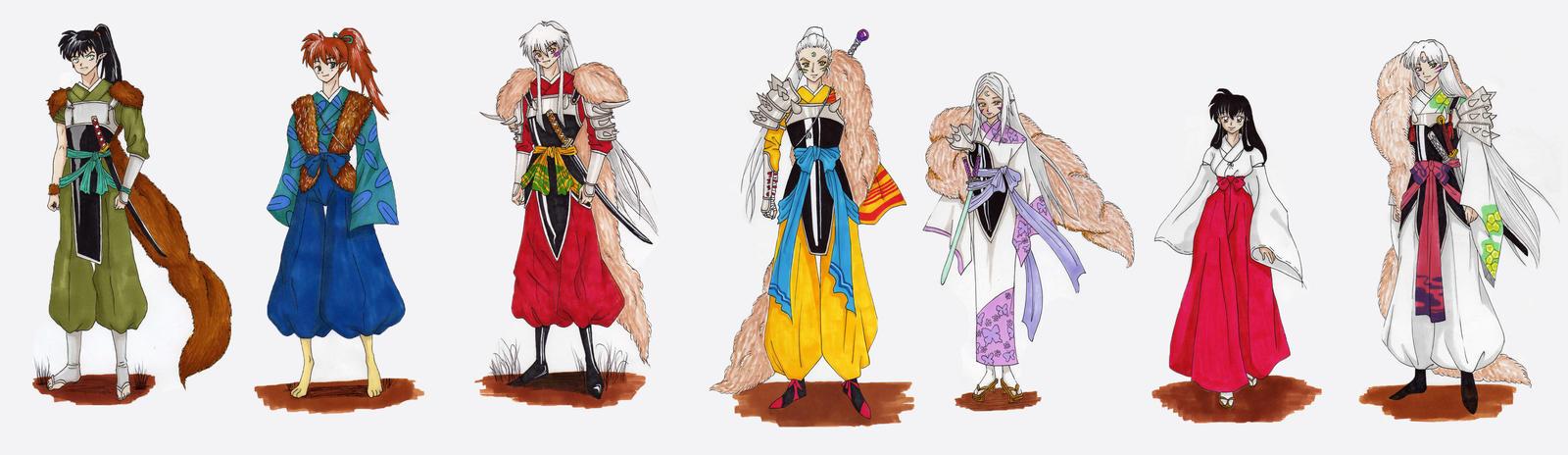 Inuyasha New Era Characters NEW SERIE By Pamelita 483