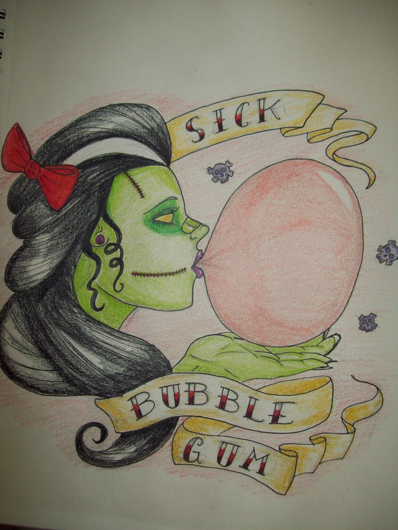bubble gum sick - photo #4