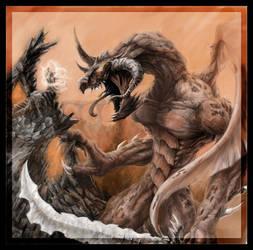 Kishlahar and Chronos Demon by bearcavestudios