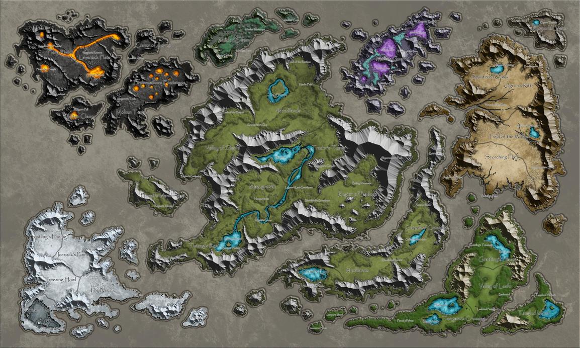 Plains of Jaalin Worldmap WIP by bearcavestudios