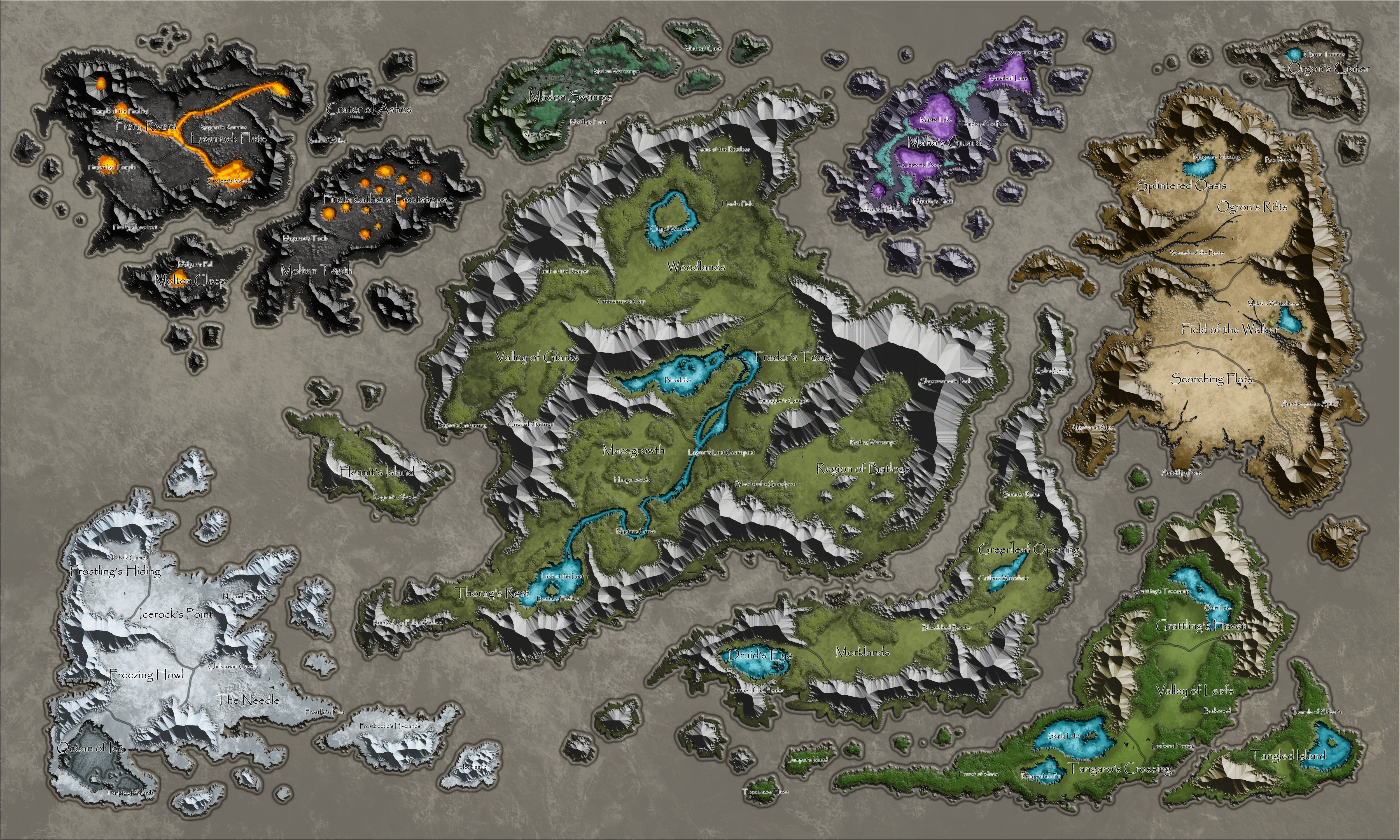 Plains of Jaalin Worldmap WIP by bearcavestudios