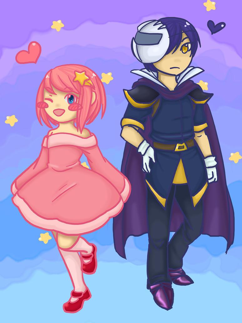 Kirby and Meta knight by chibi-riri-chan on DeviantArt