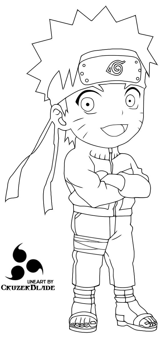 Naruto chibi lineart by cruzerblade on deviantart - Coloriage naruto gaara ...