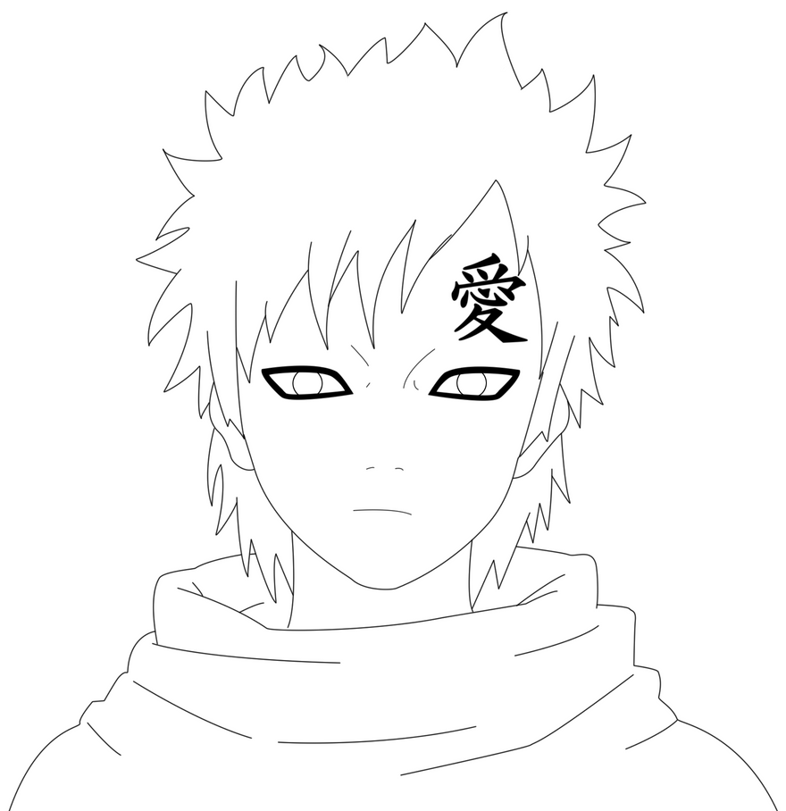 gaara coloring pages - photo#13