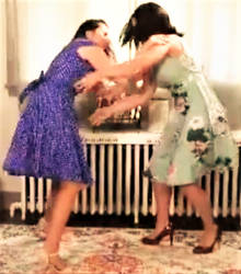 Dress-Ripping Catfight! 1 by GraciousGoodSevens