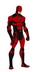 YJ style Daredevil redesign (Red) by shorterazer