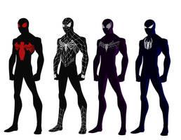 Spider-man simbiote costume redesign request by shorterazer