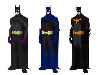 Batman costume variations by shorterazer