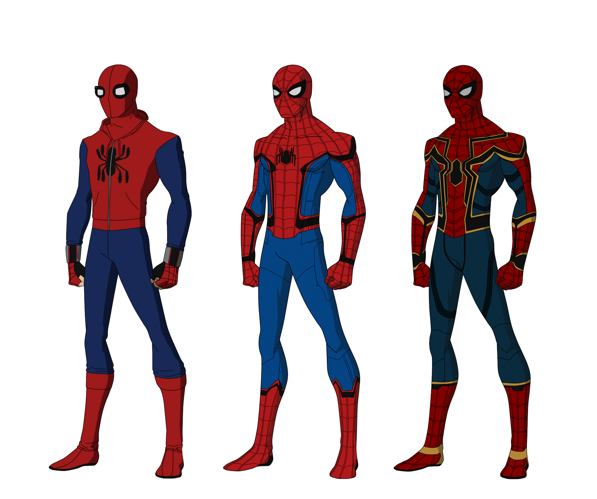 Spider Man Homecoming Suits By Shorterazer On Deviantart