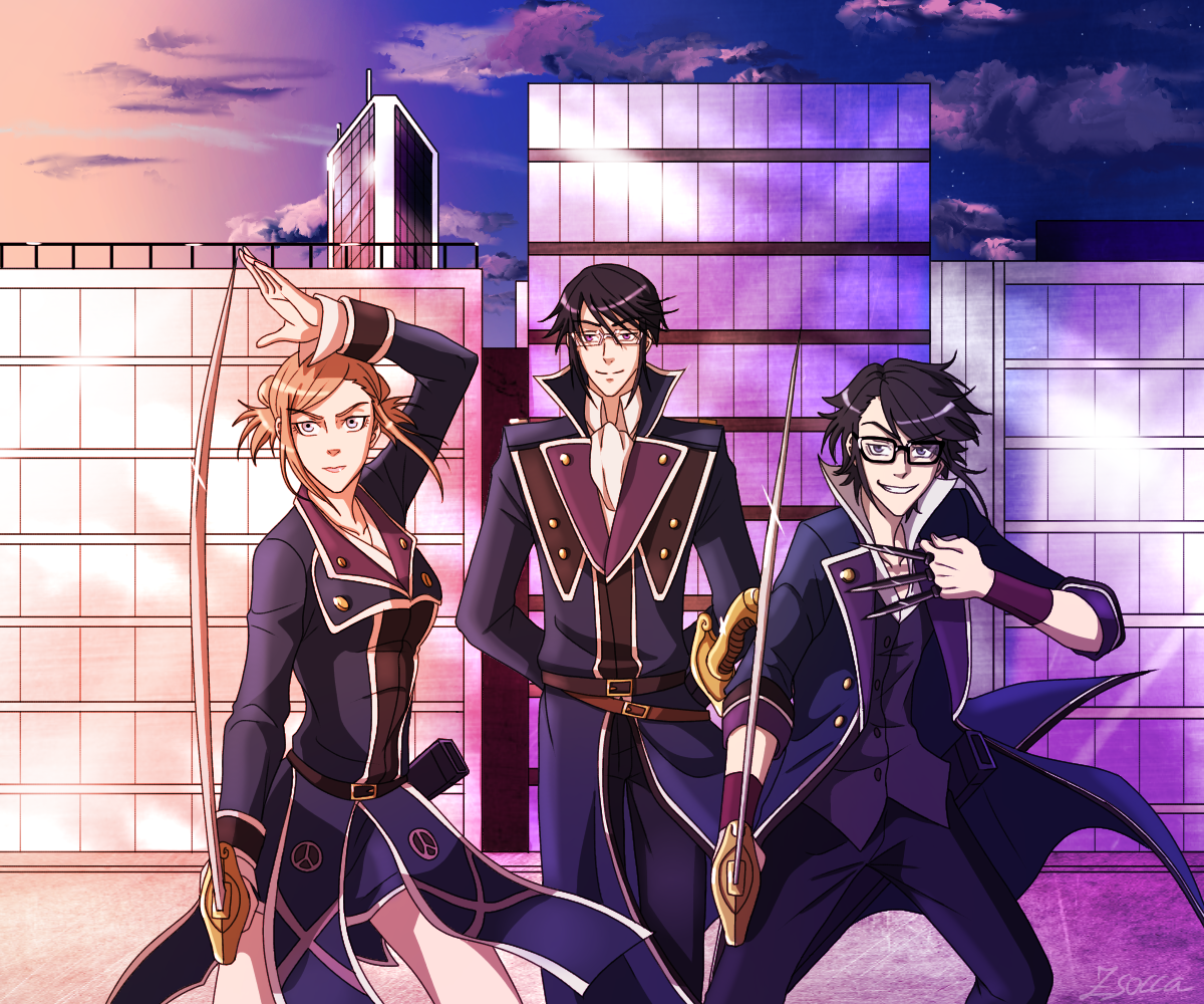 The three musketeers of Scepter4