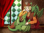 Young Poland and his dragons