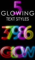Glowing Text Styles by ArtoriusGothicus