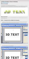 Photoshop 3D Text Tutorial