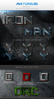 Iron Man Text Styles