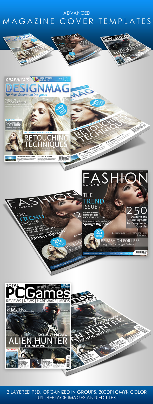 Adv. Magazine Cover Templates by ArtoriusGothicus