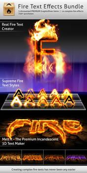 Fire Text Effects Bundle