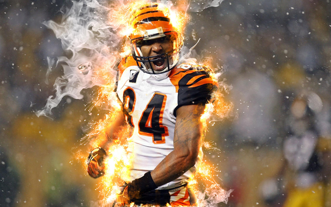 Glorious moment (football player on fire) by ArtoriusGothicus