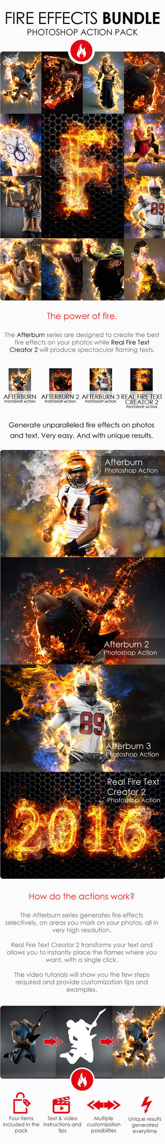 Fire Effects Bundle - Photoshop Action by ArtoriusGothicus