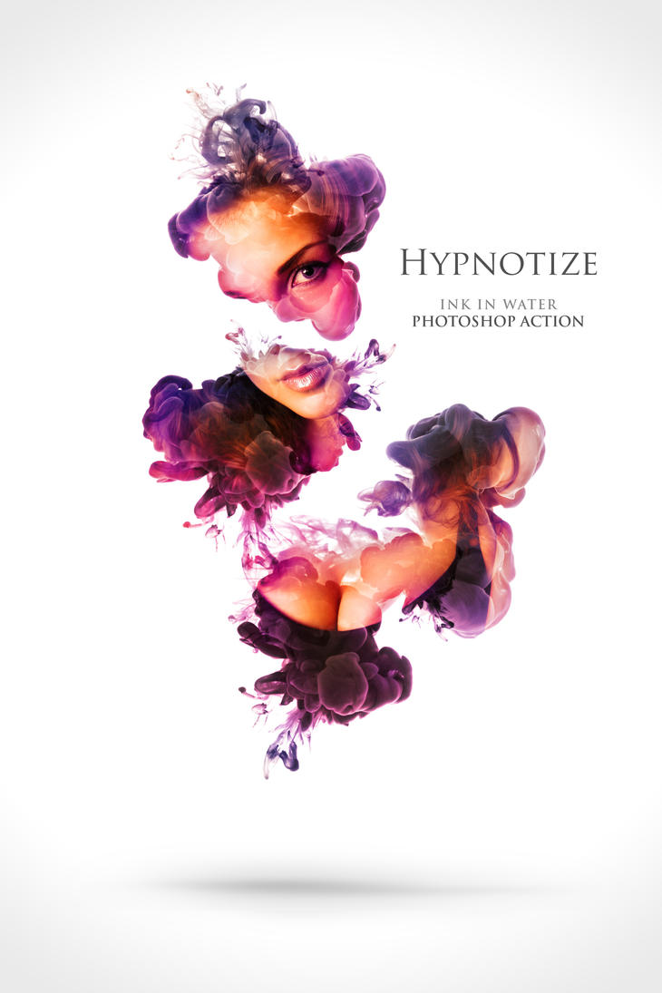 Hypnotize - Ink in Water Photoshop Action by ArtoriusGothicus