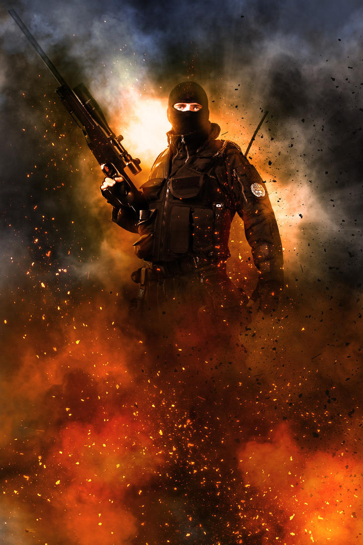 Warfighter Photoshop Action by ArtoriusGothicus