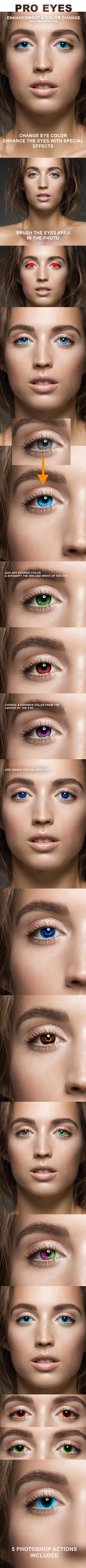Pro Eyes Enhancement and Color Change - PS Actions by ArtoriusGothicus