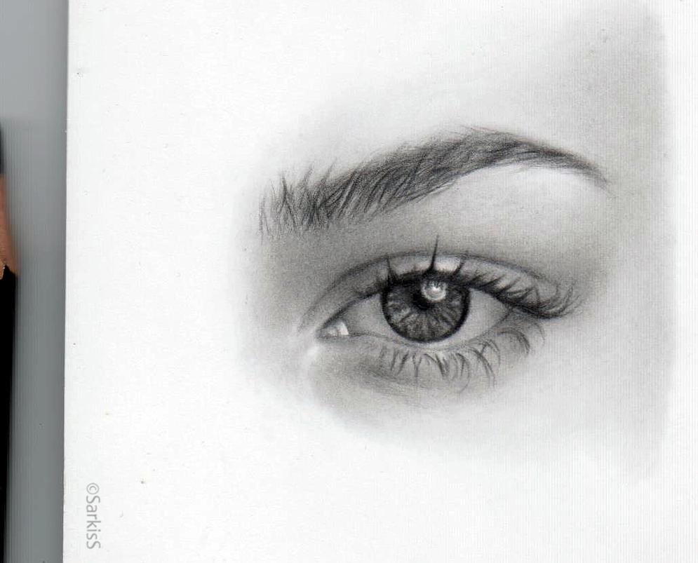 Eye drawing by Sikoian