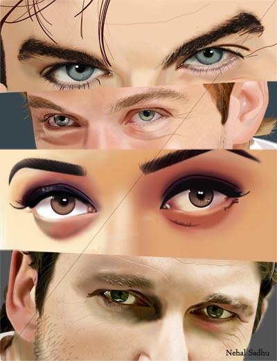 Eyes by nehalsadhu