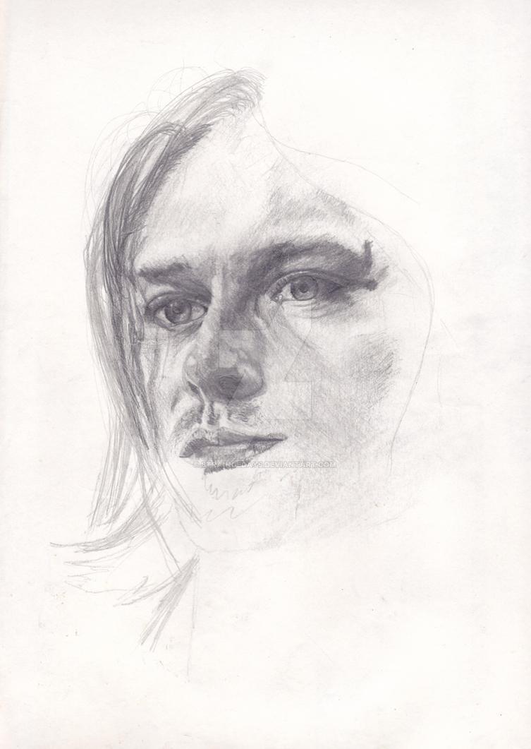Kurt Cobain, Unplugged [drawn May'96] by straingedays