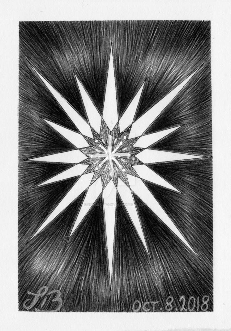 INKtober 08 = STAR by straingedays