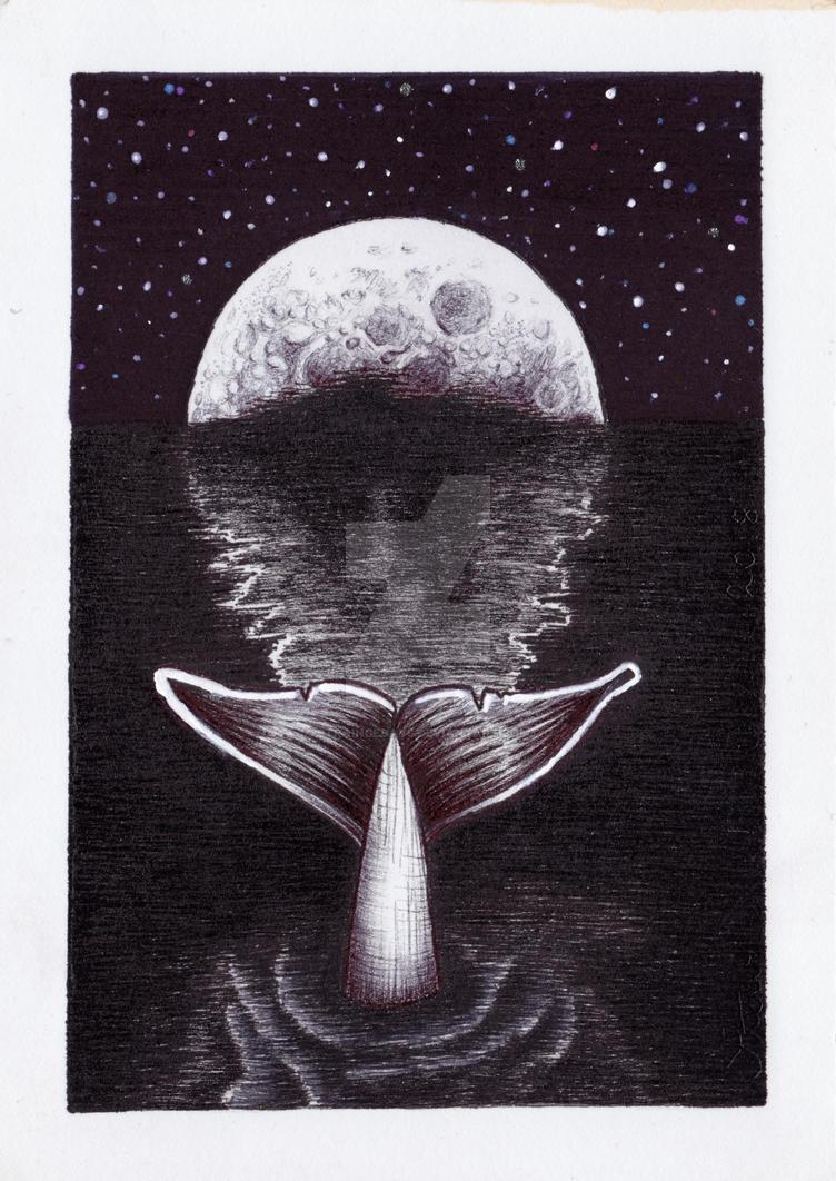 INKtober 12 = Whale by straingedays