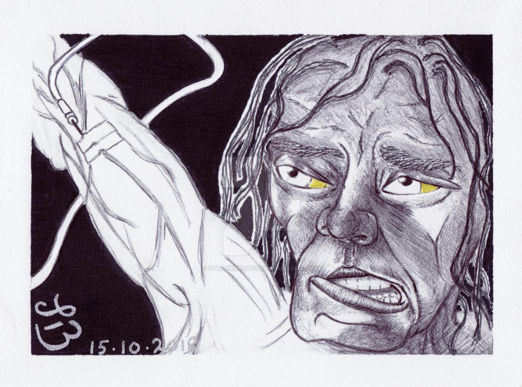 INKtober 15 = Weak by straingedays