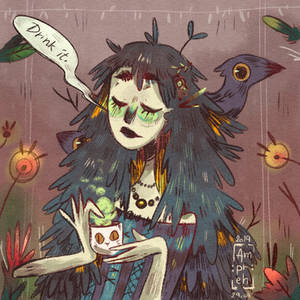A doodle with Lady Crow the apothecary
