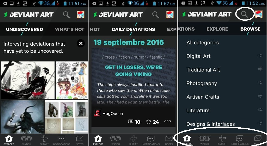 How To Use The Deviantart Mobile App By Pascua Tanya On