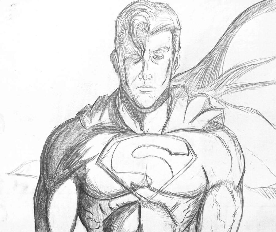 Superman Pencil Drawin...
