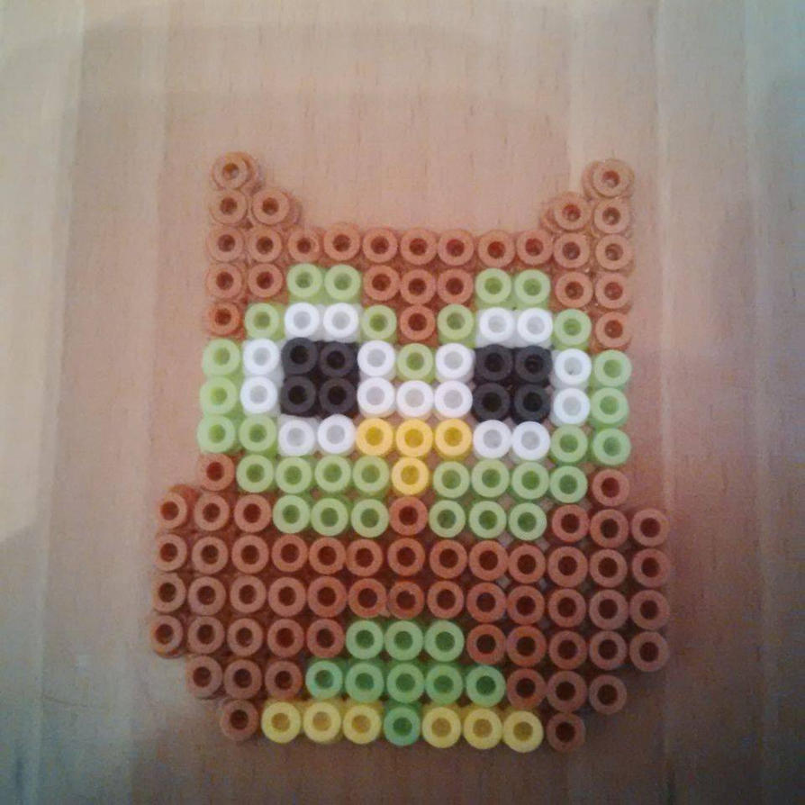 Brown/Natural Owl Hama/Perler Bead Design by Karla-Jade-2015 on ...