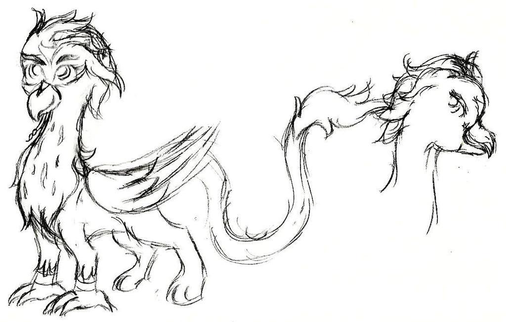 Snowy Griffon V1 Sketch by pretty-pegasus-wings