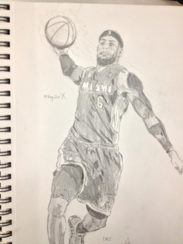 Drawings of lebron james lebron james by aguilarx