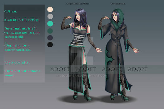 (CLOSED) Adopt Auction #1 Witch