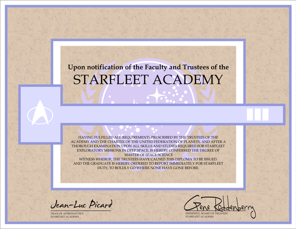 Starfleet academy certificate by cmdrkerner on deviantart starfleet academy certificate by cmdrkerner yadclub Image collections