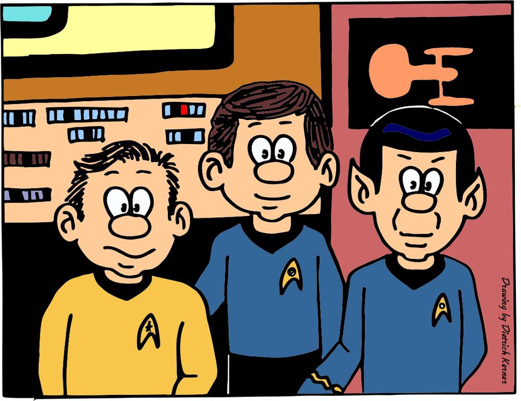 Kirk, Spock and McCoy by CmdrKerner