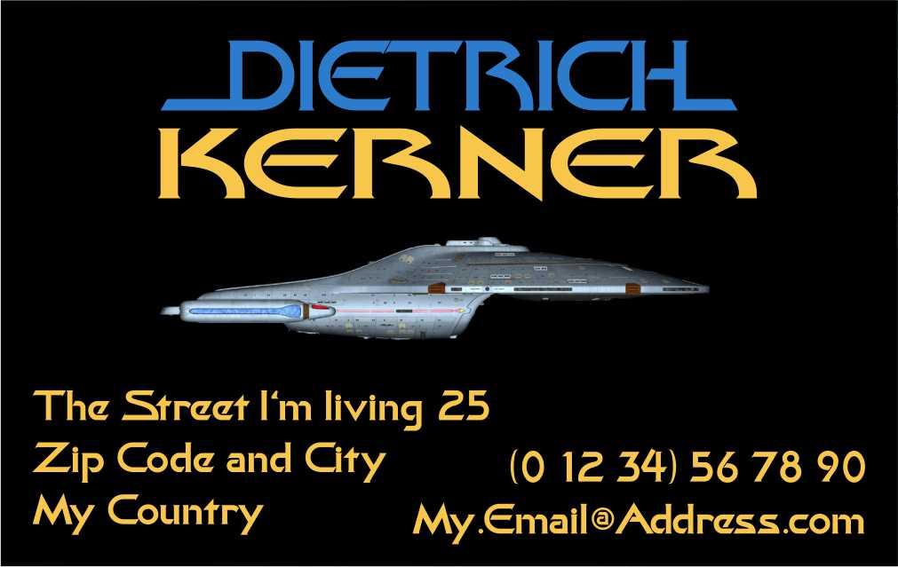 Themed Business Card Star Trek - Voyager by CmdrKerner