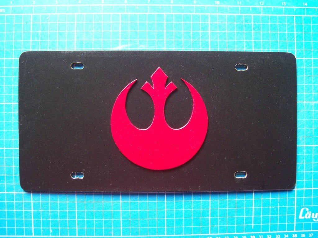 Rebel Forces License Plate by CmdrKerner