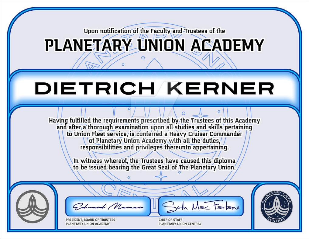 The Orville Certificate by CmdrKerner