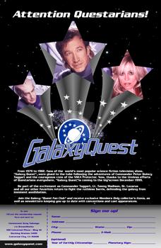 Galaxy Quest Fan Club Flyer