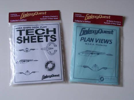 Galaxy Quest Tech Sheets and Plan Views