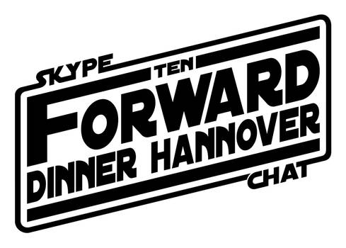 10-Forward-Dinner Hannover Logo in Star Wars look.