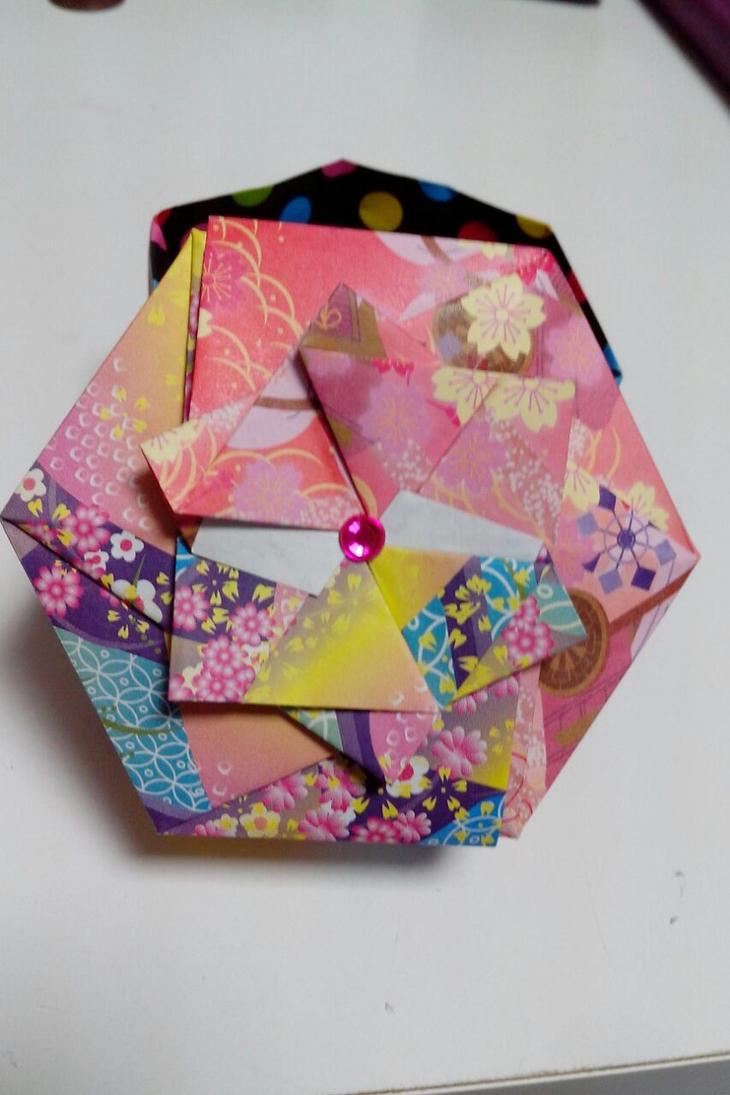 Origami flower box by primike104 on deviantart origami flower box by primike104 mightylinksfo