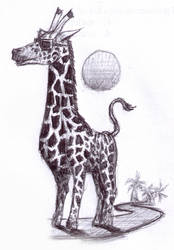 Cool Giraffe by erenance